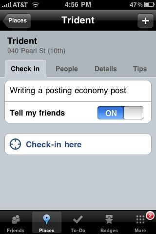Posting Economy